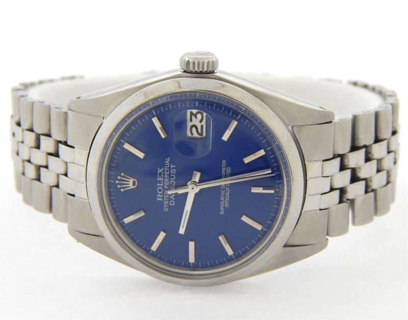 Men's Rolex Stainless Steel Datejust Blue PRE-OWNED