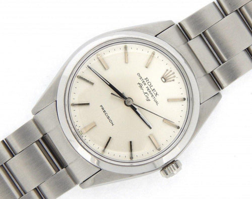 Men's Rolex Stainless Steel Air-King Silver 5500 PRE-OWNED - Global Timez