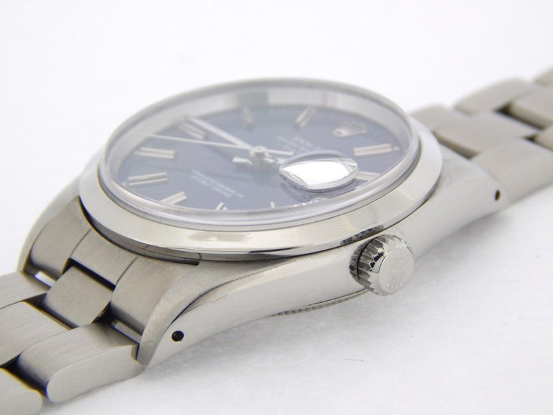 Men's Rolex Stainless Steel Date Blue 15200 PRE-OWNED