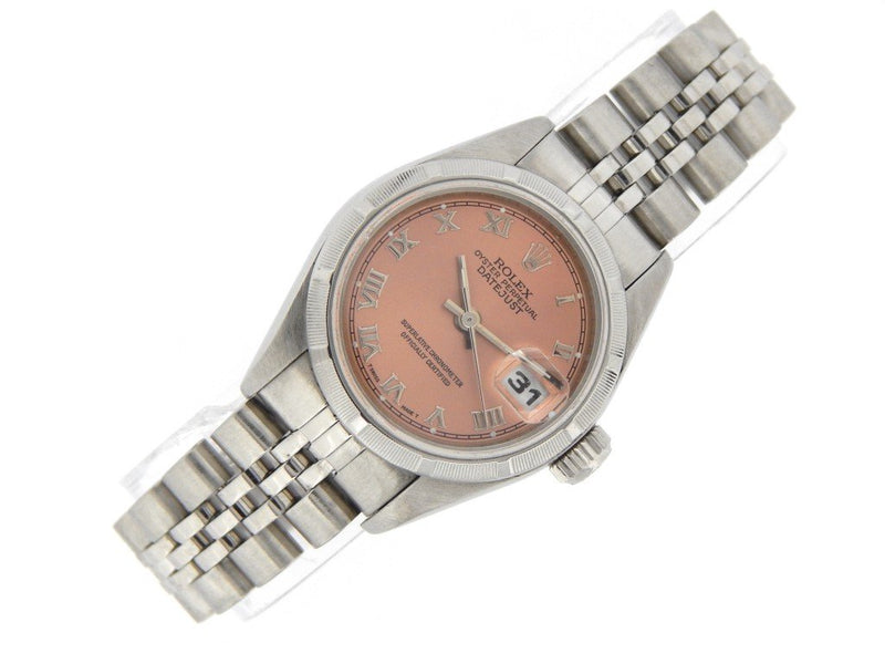 Ladies Rolex Stainless Steel Datejust Salmon Roman 79190 PRE-OWNED