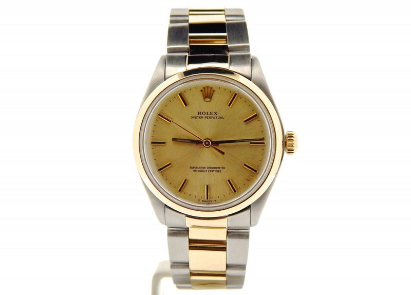 Men's Rolex Two-Tone 14K/SS Oyster Perpetual Champagne 1002 PRE-OWNED