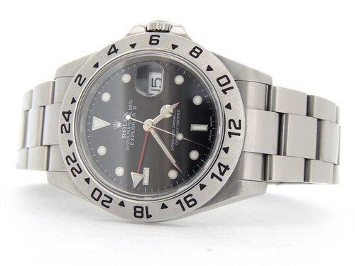Men's Rolex Stainless Steel Explorer II Black 16570T PRE-OWNED - Global Timez