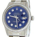 Men's Rolex Stainless Steel Datejust Diamond Blue PRE-OWNED