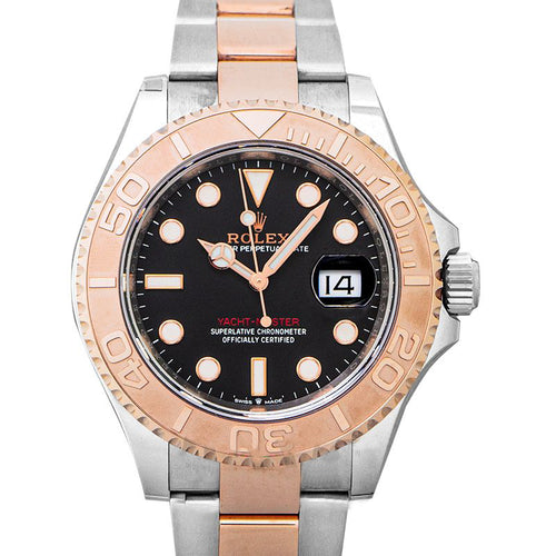 Men's Rolex Yacht-Master 40 Rose Gold/Stainless Steel Black Dial Oyster Bracelet 126621 - BRAND NEW