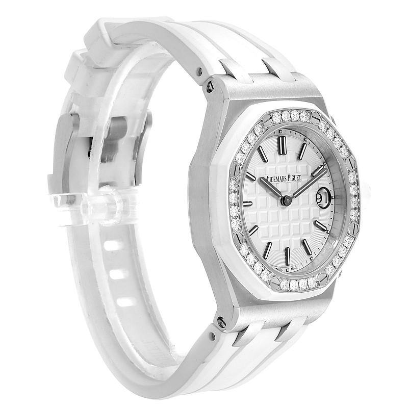 Audemars Piguet Royal Oak Offshore 37mm Diamond Ladies Watch 57175ST PRE-OWNED - Global Timez