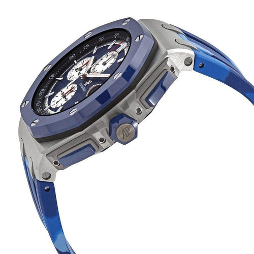 Men's Audemars Piguet Royal Oak Offshore Selfwinding Chronograph Stainless Steel Blue Index Dial & Ceramic Bezel Rubber Bracelet 26400SO.OO.A335CA.01 - BRAND NEW - Global Timez