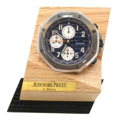 Men's Audemars Piguet Royal Oak Offshore Chronograph MG.CD.AC.AP0100.022.16 Stainless Steel Table Clock - BRAND NEW - Global Timez