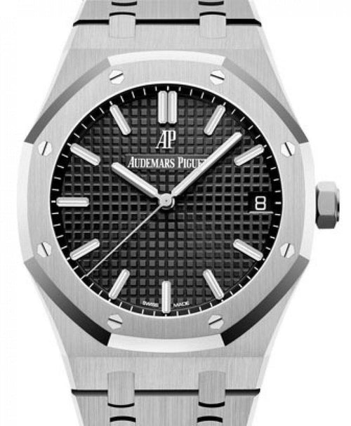 Men's Audemars Piguet Royal Oak Selfwinding Stainless Steel Black Index Dial & Fixed Bezel Steel Bracelet 15500ST.OO.1220ST.03 - BRAND NEW - Global Timez