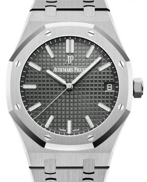 Men's Audemars Piguet Royal Oak Selfwinding Stainless Steel Slate Index Dial & Fixed Bezel Steel Bracelet 15500ST.OO.1220ST.02 - BRAND NEW - Global Timez