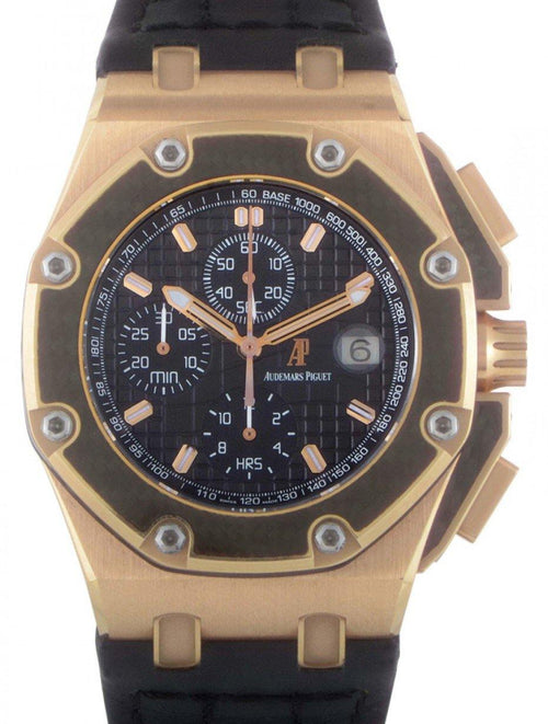 Men's Audemars Piguet Royal Oak Offshore Juan Pablo Montoya Rose Gold PRE-OWNED - Global Timez