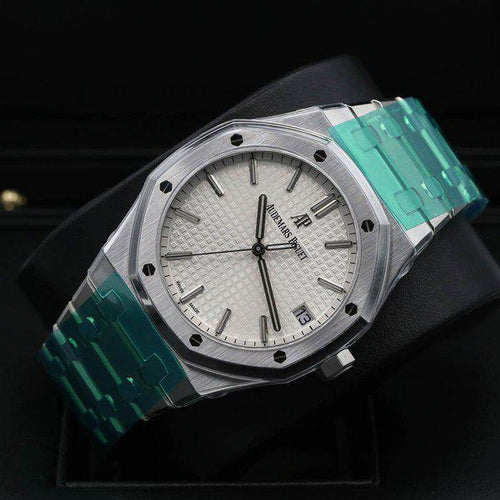 Men's Audemars Piguet Royal Oak Selfwinding 41 Silver Dial, 15500ST.OO.1220ST.04 PRE-OWNED - Global Timez
