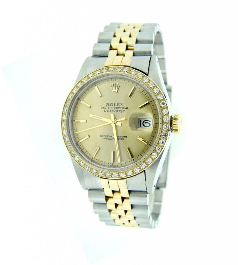 Men's Rolex Two-Tone Datejust Diamond Champagne PRE-OWNED