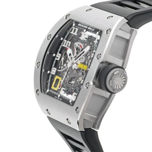 Men's Richard Mille RM 030 Ti in Titanium on Black Rubber with Grey Skeleton Dial RM030 PRE-OWNED