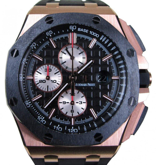 Men's Audemars Piguet Royal Oak Offshore Rose Gold Ceramic 44mm 26401RO.OO.A002CA.01 - PRE-OWNED - Global Timez