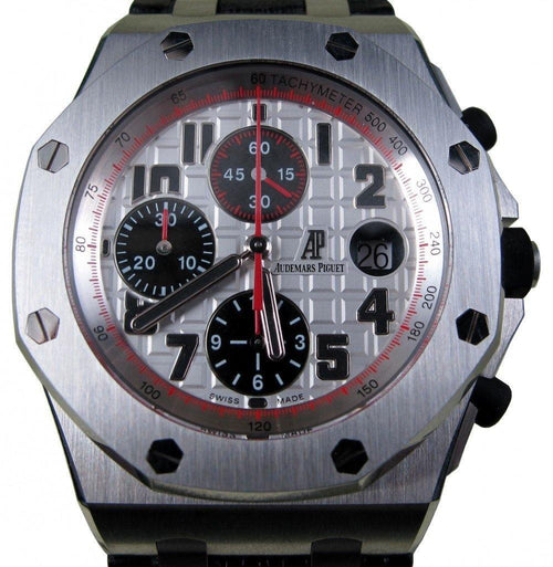Men's Audemars Piguet Royal Oak Offshore Panda Themes White 26170ST.OO.D101C BOX/PAPERS PRE-OWNED - Global Timez