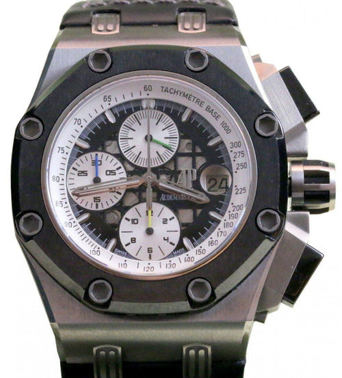 Men's Audemars Piguet Royal Oak Offshore Rubens Barrichello II 26078IO.OO.D001VS.01 Titanium 42mm RBII Limited PRE-OWNED - Global Timez