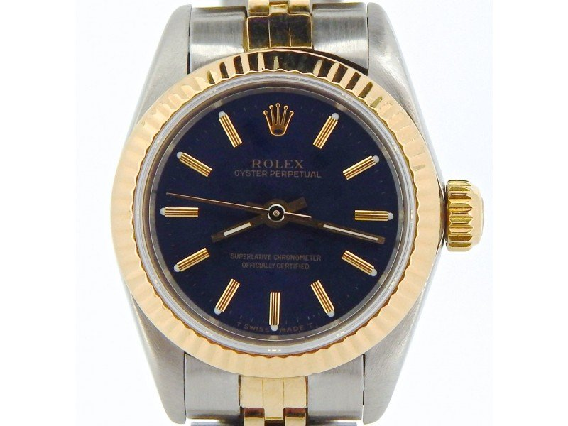 Ladies Rolex Oyster Perpetual 67193 Vintage 24mm Watch PRE-OWNED