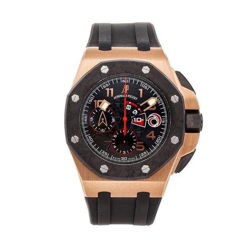 Men's Audemars Piguet Black 18k Rose Gold And Carbon Royal Oak Offshore Team Alinghi Limited Edition 26062OR.OO.A002CA.01 Men's Wristwatch 44 MM PRE-OWNED - Global Timez