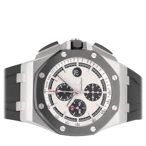 Men's Audemars Piguet White/Black Stainless Steel Royal Oak Offshore Chronograph 26400SO.OO.A002CA.01 Men's Wristwatch 44 MM PRE-OWNED - Global Timez