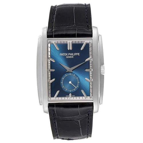Patek Philippe Blue 18K White Gold Gondolo 5124 Men's Wristwatch 43x33 MM PRE-OWNED - Global Timez