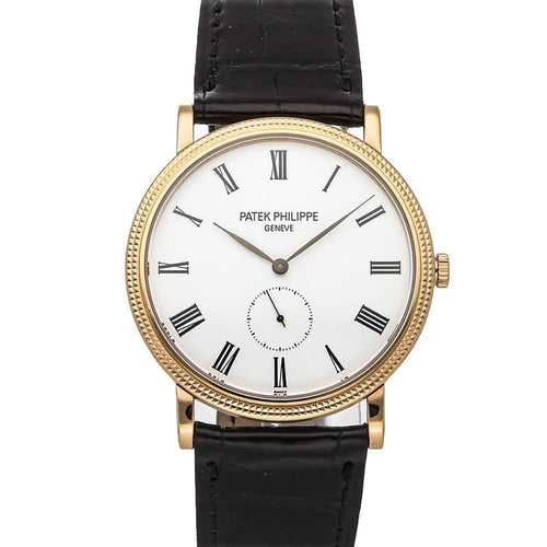 Patek Philippe White 18K Rose Gold Calatrava 5119R-001 Men's Wristwatch 36 MM PRE-OWNED - Global Timez