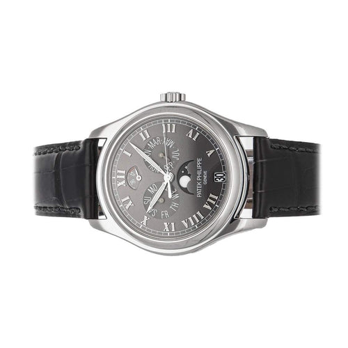 Patek Philippe Gray Platinum Complications Annual Calendar 5056P-001 Men's Wristwatch 37 MM PRE-OWNED - Global Timez