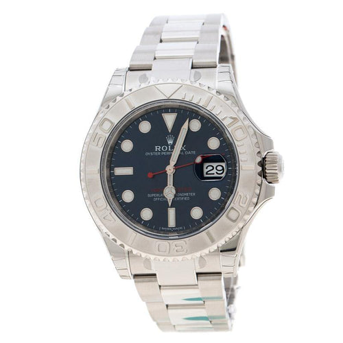 Men's Rolex Blue Stainless Steel Oyster Perpetual Yacht-Master 116622 Wristwatch 40 mm BRAND NEW - Global Timez