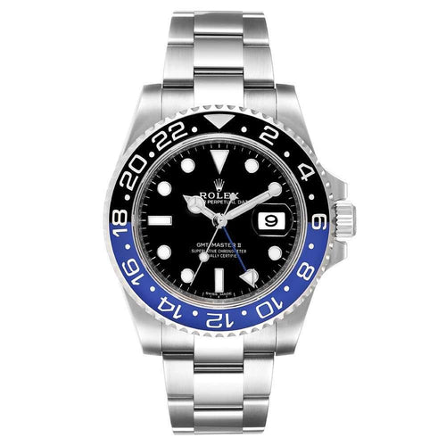 Men's Rolex Black Stainless Steel GMT Master II Batman 116710 Wristwatch 40 MM BRAND NEW - Global Timez