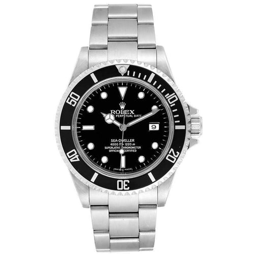 Men's Rolex Black Stainless Steel Sea-Dweller 16600 Wristwatch 40 MM PRE-OWNED - Global Timez