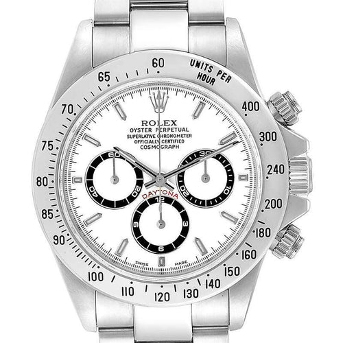 Men's Rolex White Stainless Steel Cosmograph Daytona 16520 Wristwatch 40MM PRE-OWNED - Global Timez