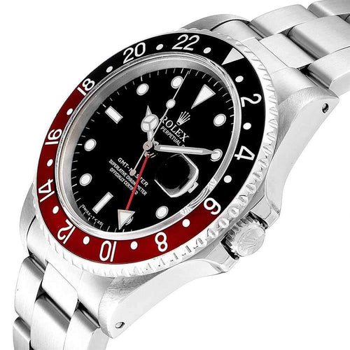 Men's Rolex Black Stainless Steel GMT Master Coke 16700 Wristwatch 40MM PRE-OWNED - Global Timez