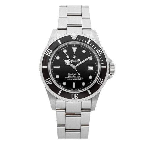 Men's Rolex Black Stainless Steel Sea-Dweller 4000 16660 Wristwatch 40 MM PRE-OWNED - Global Timez