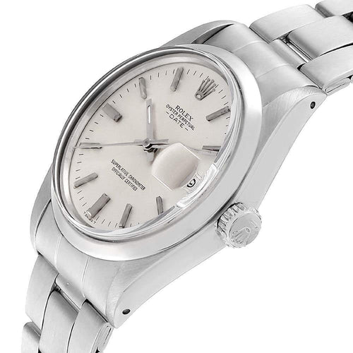 Men's Rolex Silver Stainless Steel Oyster Perpetual Date 1500 Wristwatch 35 MM PRE-OWNED - Global Timez