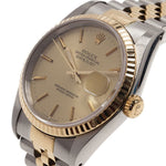 Men's Rolex Gold Stainless Steel and Yellow Gold Datejust Wristwatch 36MM PRE-OWNED