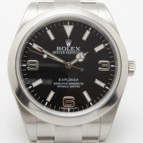 Men's Rolex Oyster Perpetual SS Mens Watch BRAND NEW - Global Timez