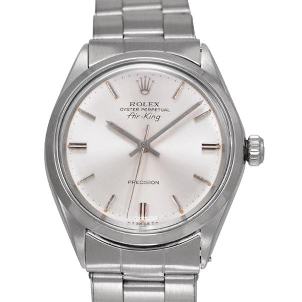 Men's Rolex Air King SS Silver Mens Wristwatch PRE-OWNED