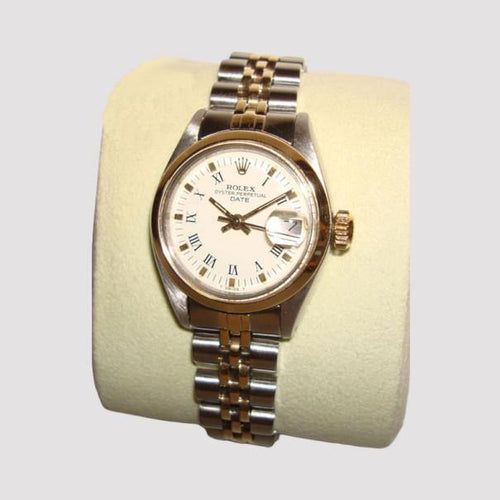 Rolex Oyster Perpetual Date Ladies Watch SS/Gold PRE-OWNED - Global Timez