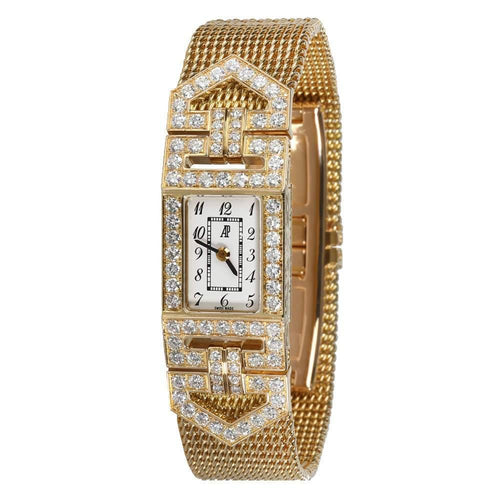 Ladies Audemars Piguet White Diamonds 18K Yellow Gold Charleston 67025BA  Wristwatch 15 MM PRE-OWNED - Global Timez
