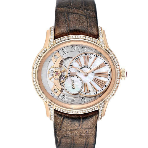 Ladies Audemars Piguet MOP Diamonds 18K Rose Gold Millenary 77247OR  Wristwatch 39.5 MM PRE-OWNED - Global Timez