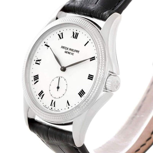 Ladies Patek Philippe White 18K White Gold Calatrava Wristwatch 35MM PRE-OWNED - Global Timez