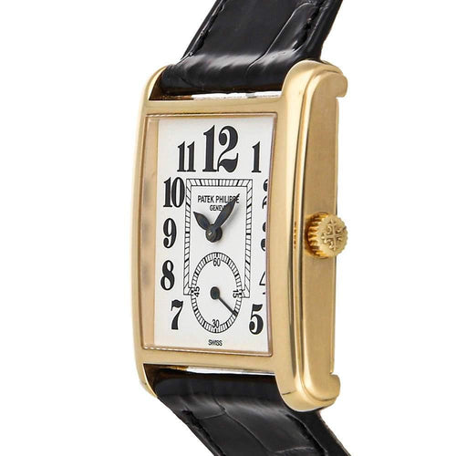 Ladies Patek Philippe White 18K Yellow Gold Gondolo 5014J-015 Wristwatch 28 MM PRE-OWNED - Global Timez