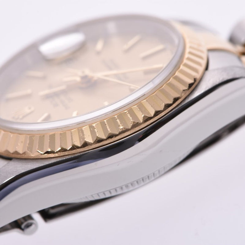 Ladies Rolex Champagne 18K Yellow Gold And Stainless Steel Datejust 79173 Wristwatch 26 MM PRE-OWNED