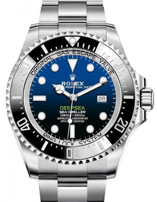 "Men's Rolex Deepsea D-Blue ""James Cameron"" Steel Black Ceramic Bezel 126660 - NEW RELEASE - PRE-OWNED - Global Timez"