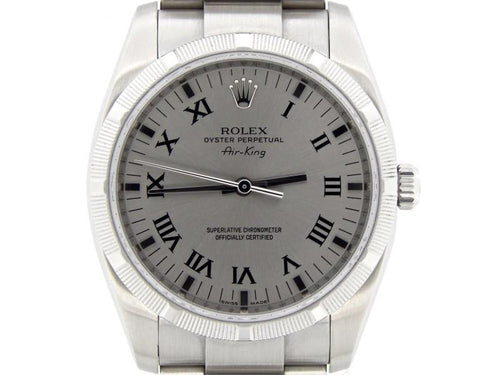 Men's Rolex Air-King 114210 34mm Mens Watch PRE-OWNED - Global Timez
