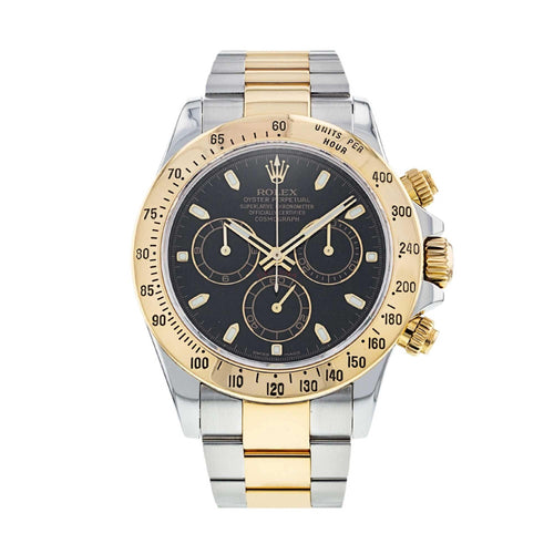 Men's Rolex Daytona 116523  Yellow Gold 40mm Automatic PRE-OWNED - Global Timez