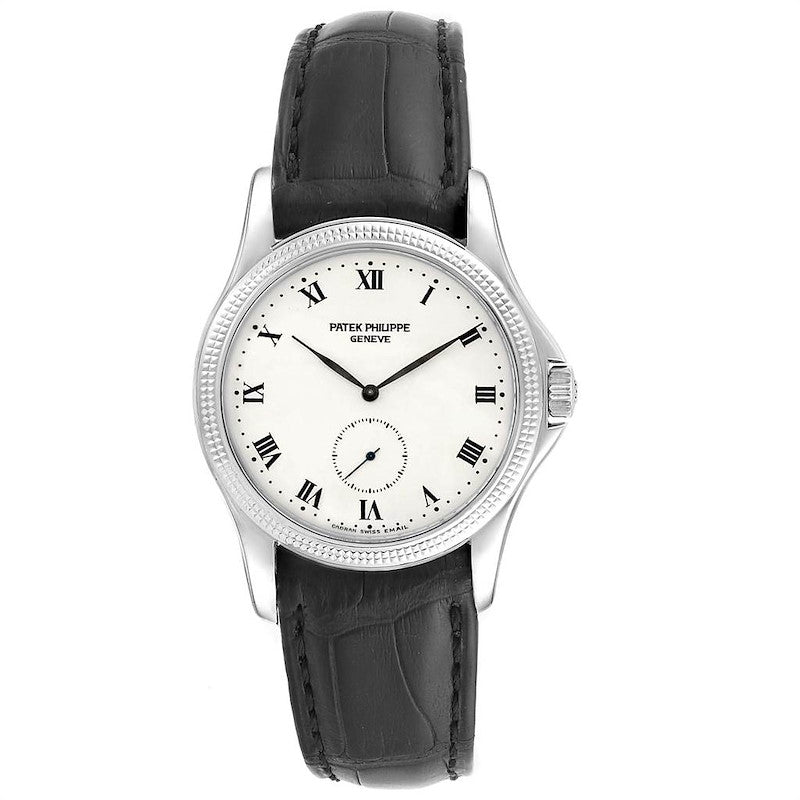 Patek Philippe Calatrava 35mm White Gold Hobnail Bezel Mens Watch 5115 Papers PRE-OWNED