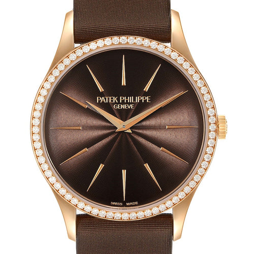 Patek Philippe Calatrava Rose Gold Brown Dial Ladies Watch 4897R Unworn PRE-OWNED