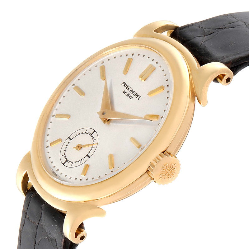 Patek Philippe Calatrava Vintage 18k Yellow Gold Mens Watch 1491 PRE-OWNED