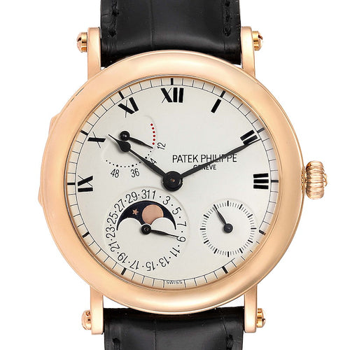Men's Patek Philippe Complications Power Reserve Moonphase Rose Gold Watch 5054 PRE-OWNED