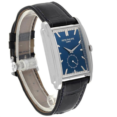 Men's Patek Philippe Gondolo Small Seconds White Gold Blue Dial Mens Watch 5124 PRE-OWNED - Global Timez